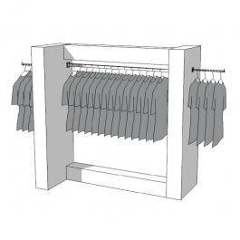 CLOTHES RAILS - CLOTHING RAIL WARDROBE : Wardrobe clothing s-r-pr-011