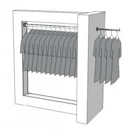 CLOTHES RAILS - CLOTHING RAIL WARDROBE : Wardrobe clothing store r-pr-007