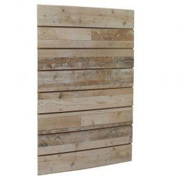 RETAIL DISPLAY FURNITURE - SLATWALL AND FITTINGS : Wooden grooved panel 10 cm