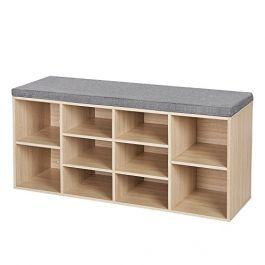 RETAIL DISPLAY FURNITURE - CHAIRS BENCH : Wooden shoe bench storage
